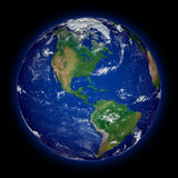 North America on planet Earth Royalty Free Stock Image