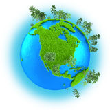 North America on planet Earth Stock Image