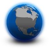 North America on political globe Royalty Free Stock Photo