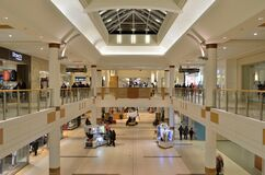 North America Shopping Mall Stock Photo