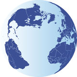 North America, South America, Europe and Africa Earth Globe Stock Photo