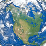 North America from space Royalty Free Stock Photo