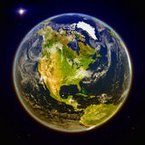 North America from space Royalty Free Stock Image