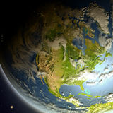 North America from space Royalty Free Stock Images