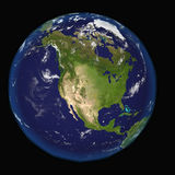North America from space. Elements of this 3d image furnished by NASA Royalty Free Stock Images