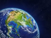 North America from space royalty free illustration