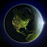North America from space Stock Photo