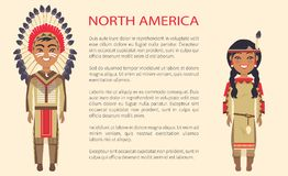 North America Traditional Vector Illustration Royalty Free Stock Photography