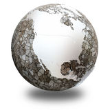 North America on translucent Earth Stock Images