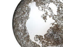 North America on translucent Earth Royalty Free Stock Images