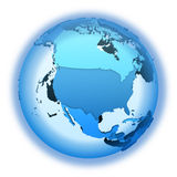 North America on translucent Earth Royalty Free Stock Photos