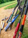 North America, USA, baseball bat at the edge of the field