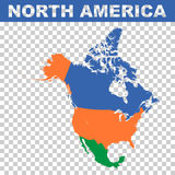 North America vector map. Simple pictogram Royalty Free Stock Image