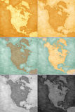 North America - Vintage Map Backgrounds Stock Photography
