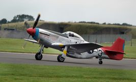 North Americam P51D Mustang at Scampton air show on 10 September, 2017. Lincolnshire active Royal Air force base. Royalty Free Stock Image
