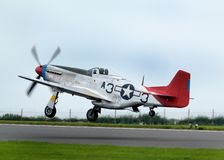 North Americam P51D Mustang at Scampton air show on 10 September, 2017. Lincolnshire active Royal Air force base. Stock Photography