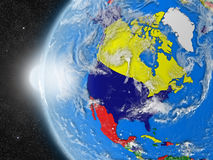 North american continent from space Stock Images