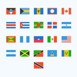 North American Country Flags Stock Image