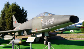 North American F-100C Super Sabre. In Istanbul Aviation Museum on September 22, 2012 in Istanbul, Turkey. TAF received about 206 F-100C most came from USAF Stock Photos