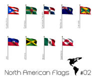 North American flags Stock Photos
