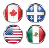 North American flags