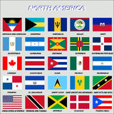 North American Flags, vector Royalty Free Stock Photos
