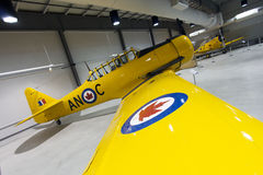 North American Harvard Mark II Aircraft. The North American Harvard on display at the National Airforce Museum of Canada in Trenton, Ontario was in service Royalty Free Stock Photos