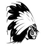 North American Indian chief. Vector illustration Stock Photo
