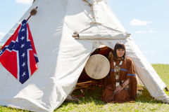 North American Indian girl Stock Photography