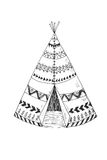 North American Indian tipi with tribal ornament Royalty Free Stock Photography