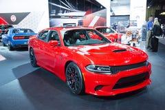 North American International Auto Show 2015. Detroit, MI, USA - January 12, 2015: Dodge Charger SRT Hellcat on display during the 2015 Detroit International Auto stock photography