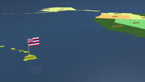 North American map with flags stock footage