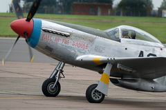 North American P51D Mustang long range world war two fighter built to a British specification. Royalty Free Stock Photos