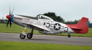 North American P51D Mustang long range world war two fighter built to a British specification. Stock Photography
