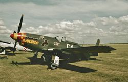 North American P-51D Mustang USAAF 44-73149 RCAF  9568 royalty free stock photo