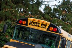 North American School Bus royalty free stock photography