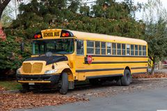 North American School Bus royalty free stock photo