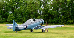 NORTH AMERICAN SNJ-4 Stock Images