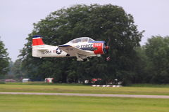 North american T-28B trojan flying Stock Photos