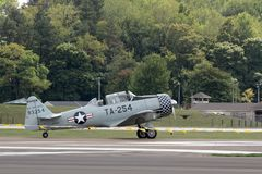 North American T-6G Texan Royalty Free Stock Photography