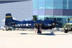 North American T-28 Trojan on display - Hamilton SkyFest 2014 Stock Photo