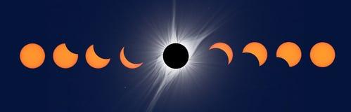 North American Total Solar Eclipse 2017. stock photo
