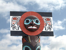 North American Totem Pole Stock Photo