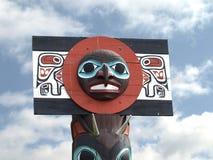 North American Totem Pole Stock Photo