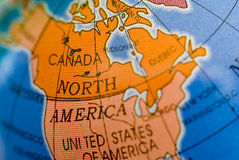 North Amerika and Canada Royalty Free Stock Photo