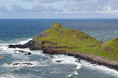 North Antrim Coastline. The Giants Causeway on the County Antrim coastline, Northern Ireland. This is one of Northern Irelands most popular tourist attractions royalty free stock images