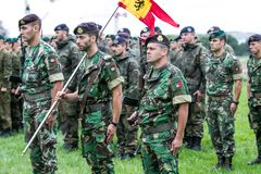 Portuguese NATO soldiers. The North Atlantic Treaty Organization, also called the North Atlantic Alliance, is an intergovernmental military alliance between 29 stock image