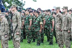 NATO soldiers on ceremony. The North Atlantic Treaty Organization, also called the North Atlantic Alliance, is an intergovernmental military alliance between 29 royalty free stock photos