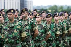 Portuguese NATO soldiers. The North Atlantic Treaty Organization, also called the North Atlantic Alliance, is an intergovernmental military alliance between 29 royalty free stock image