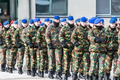 NATO soldiers on ceremony. The North Atlantic Treaty Organization, also called the North Atlantic Alliance, is an intergovernmental military alliance between 29 royalty free stock image